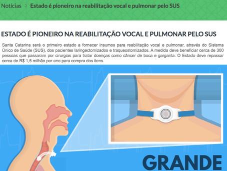 Santa Catarina é o estado pioneiro na reabilitação vocal e pulmonar pelo SUS