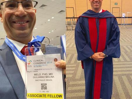 Cerimônia de posse para o meu Título de Fellow do American College of Surgeons