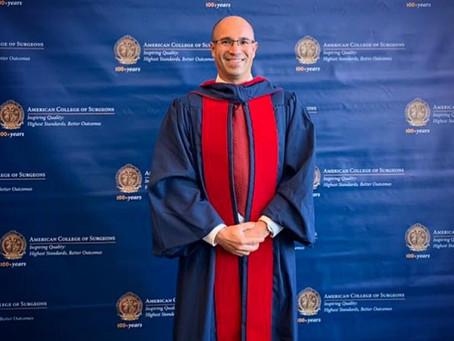 Posse do meu Título de Fellow do American College of Surgeons.