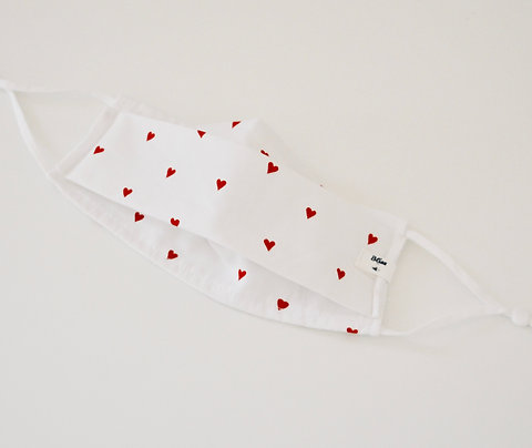 Sweetheart White & Red Hearts
