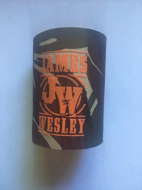 "James Wesley ""JW"" Fabric Hard Bottom Camouflage Can Koozie"
