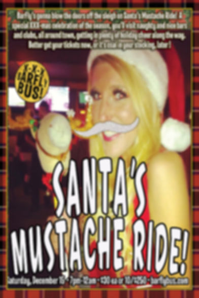Santa's Mustache Ride BarFly Bus Tour Poster