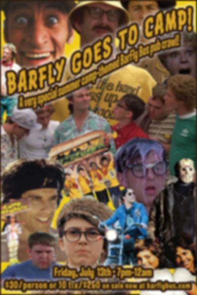 BarFly Goes to Camp Bus Tour Poster