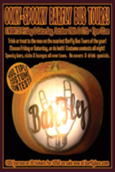 Ooky-Spooky Halloween BarFly Bus Tour Poster