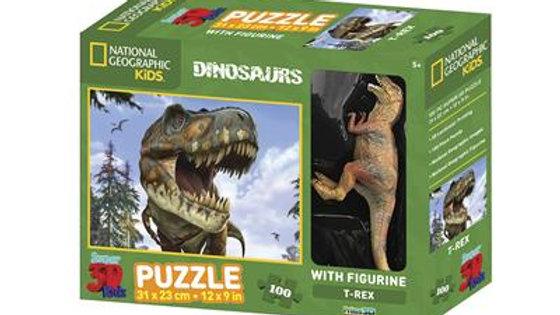 Puzzle 3D T-Rex  100 pièces