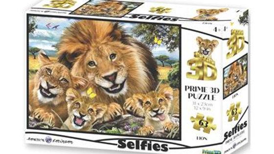 Puzzle 3d Selfie des Lions 63 Pièces