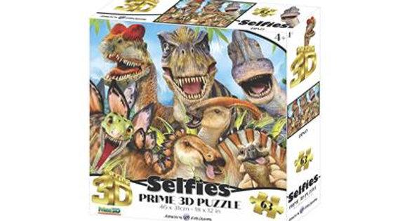 Puzzle 3D Selfie des Dinos 63 pièces