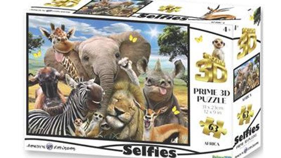 Puzzle 3D selfie africain 63 pièces