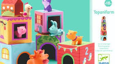 La Ferme Cube et Animaux Djeco