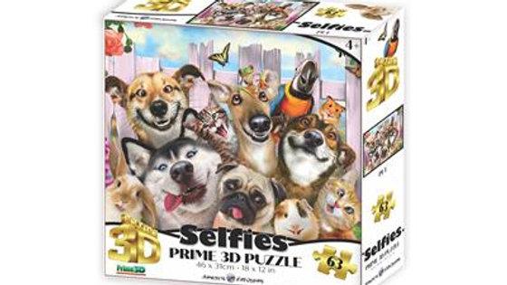 Puzzle 3D selfie des animaux  63 Pièces