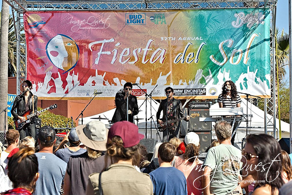 The Softwhite Sixties take the stage at the 2016 Fiesta del Sol in Solana Beach, CA