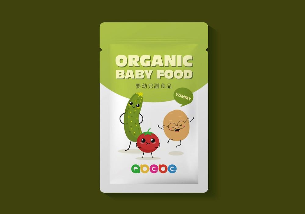 QBEBE嬰兒副食品包裝設計 | 鋁袋設計
