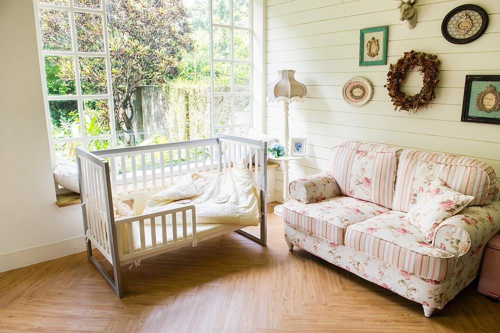 嬰兒床 商品 拍攝 情境照 攝影棚棚拍