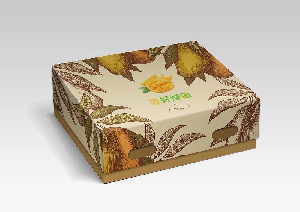 好鮮甜 芒果禮盒設計 包裝設計