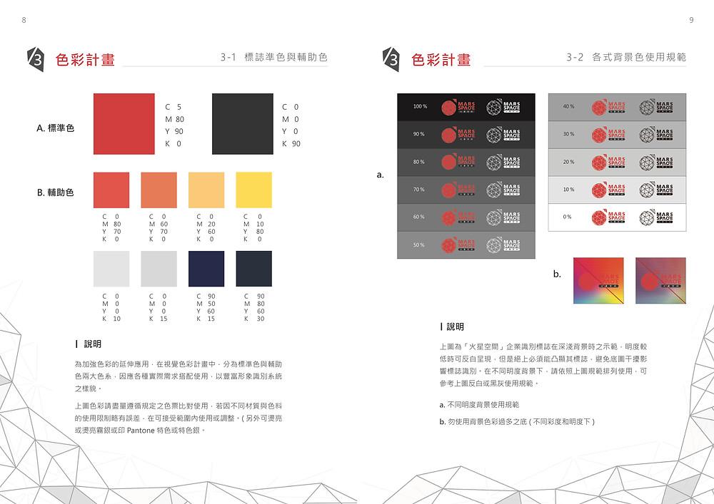 火星空間 色彩計劃