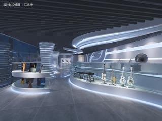 樂器行室內空間設計   商店設計
