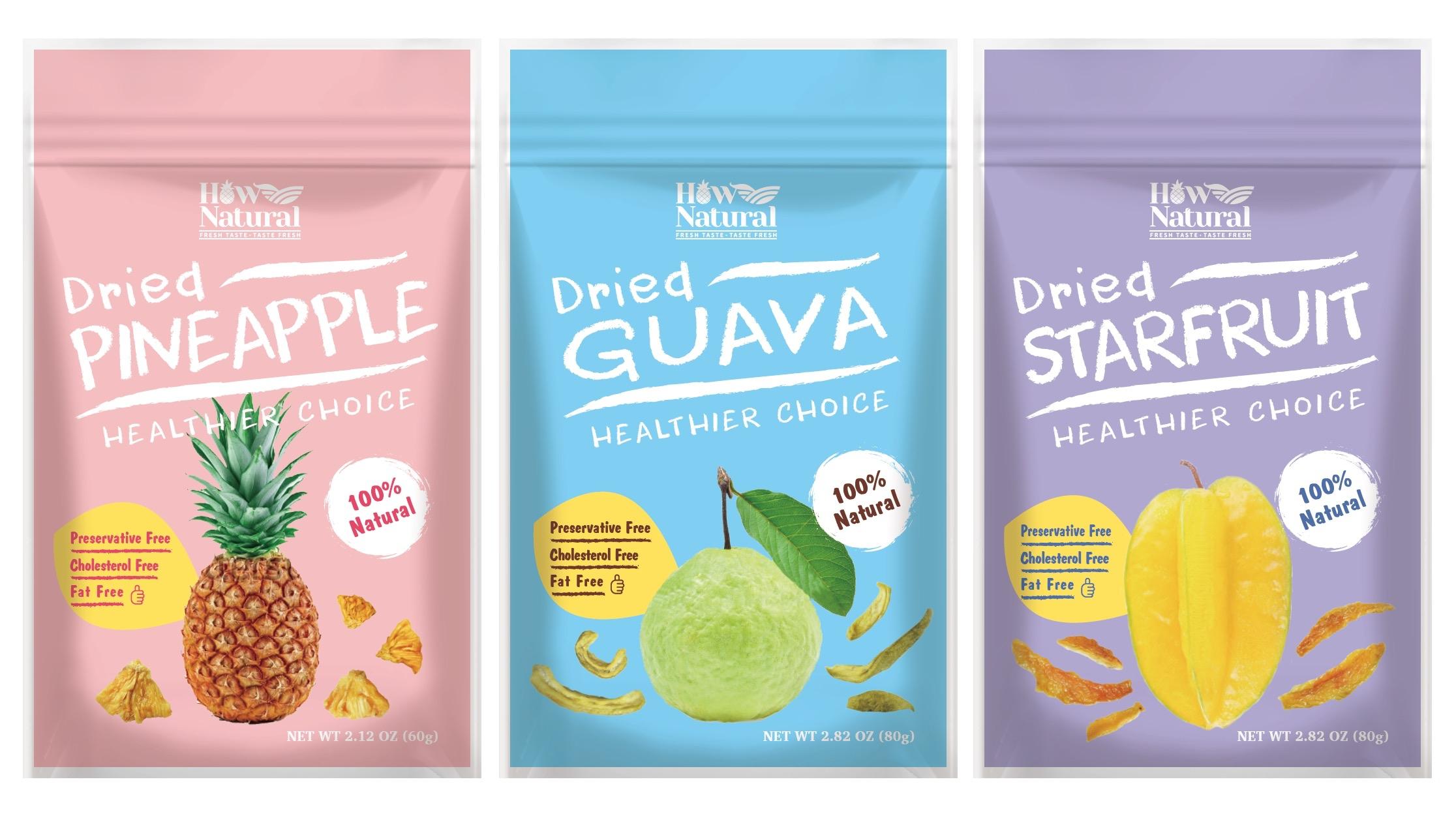 好鮮甜 HowNatural 果乾產品包裝設計