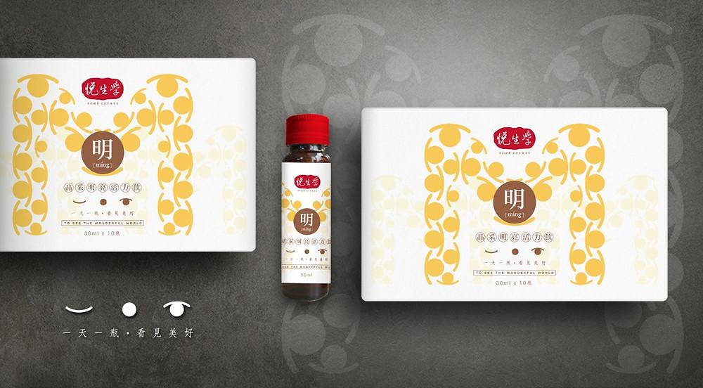 生技產品 品牌包裝設計 彩盒 瓶貼