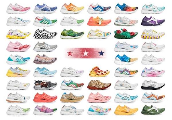 愛迪達為美國50個州都設計了專屬跑鞋