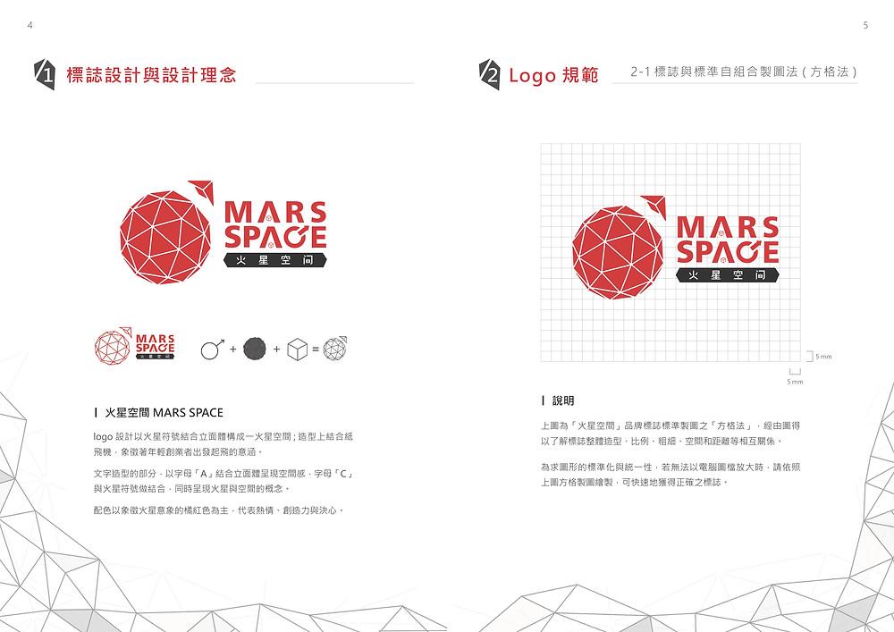 火星空間 標誌設計與設計理念 / LOGO規範
