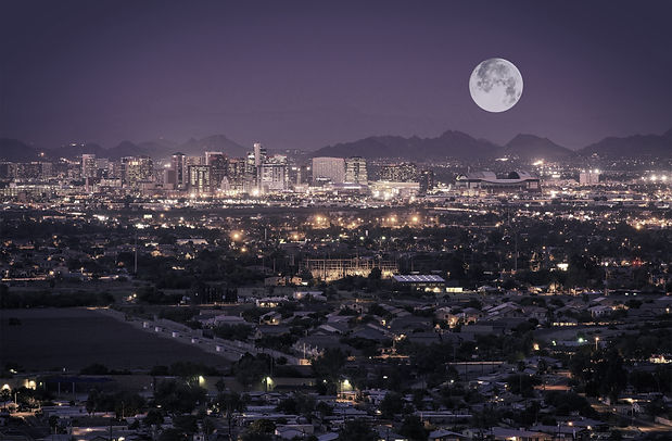Phoenix Arizona Skyline at Night. Full Moon Over Phoenix, Arizona, United States._edited.jpg