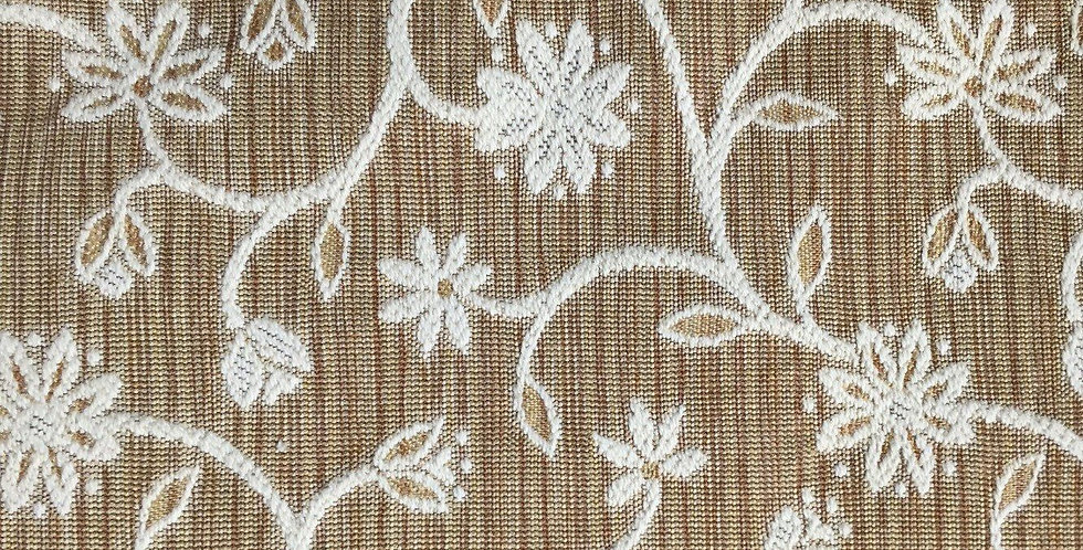 Brown  and Cream Woven Vining Floral