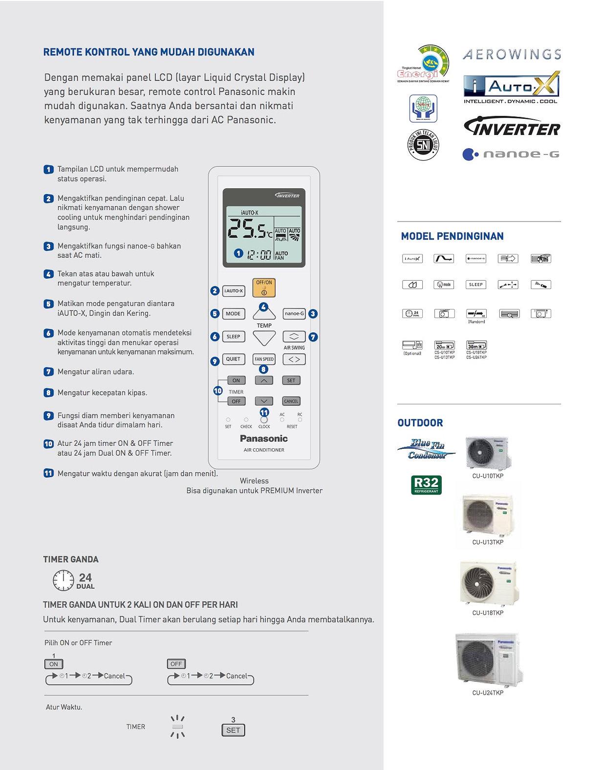 Panasonic Premium Inverter 2 5 PK | Split Air Conditioner