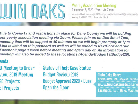 Twin Oaks Yearly Association Meeting on Zoom