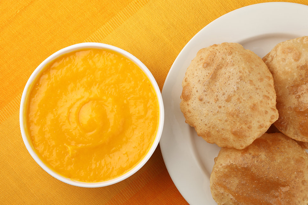 Indian Food - Aamras is a sweet dish mad
