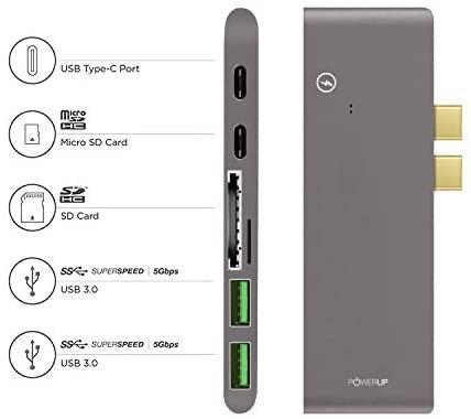 PowerUp 7 in 1 USB Hub