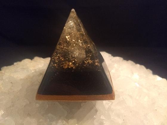 Citrine & Gold Flake Orgone Pyramid