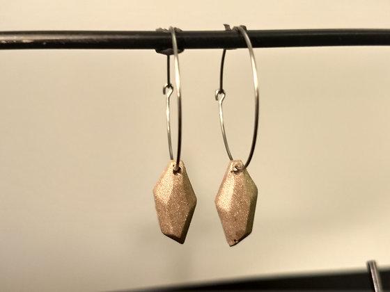 Brass Orgone Earrings