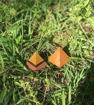 Brass & Copper Mini Set Orgone Pyramids