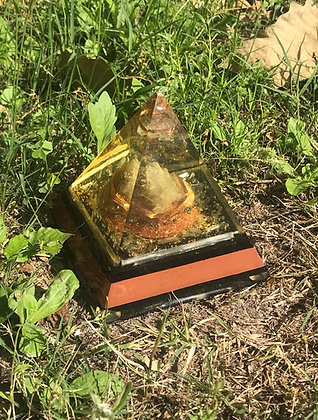 Clear Quartz & Copper Master Pyramid