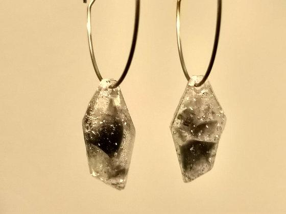 Obsidian Shard Earrings