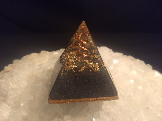 Wrapped Clear Quartz Orgone Pyramid
