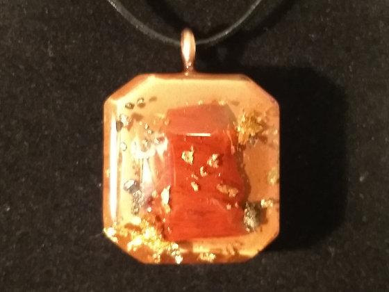Red Jasper Orgone Pendant