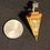Thumbnail: Clear Quartz & Gold Flake Orgone Pendulum
