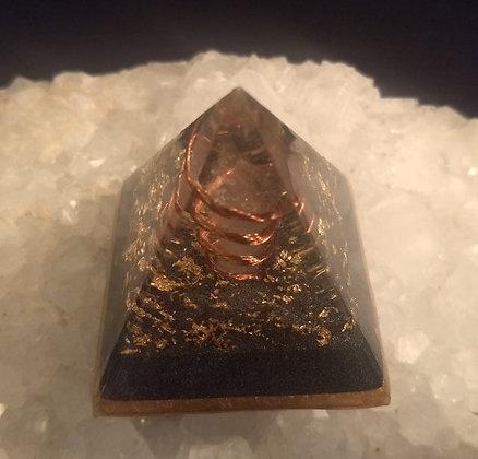 Wrapped Clear Quartz Orgone Pyramid