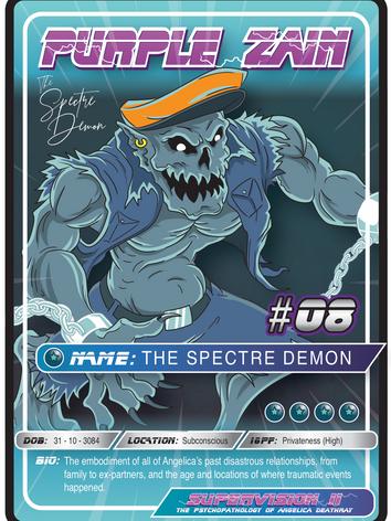 Purple Zain Playing Card #08