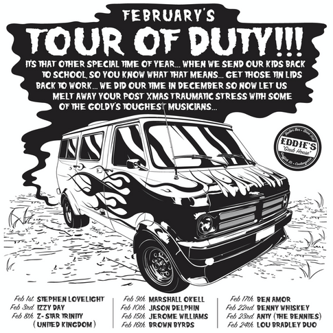 Eddie's Tour Of Duty February Poster