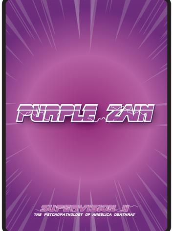 Purple Zain Playing Cards Back