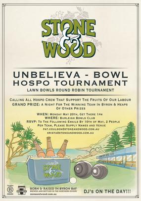 Stone & Wood Hospo Tournament Poster