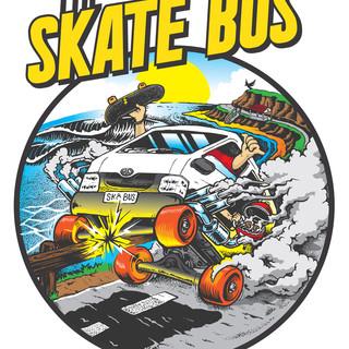 The Skate Bus Van Wrap