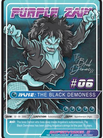 Purple Zain Playing Card #07