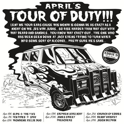 Eddie's Tour Of Duty April Poster