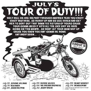 Eddie's Tour Of Duty July Poster