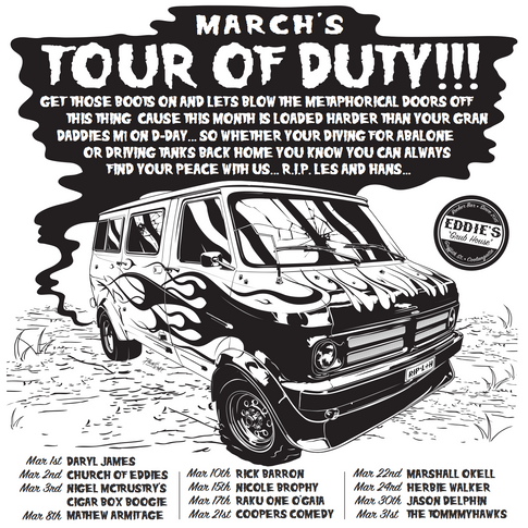 Eddie's Tour Of Duty March Poster