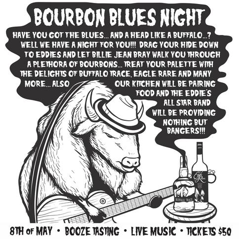 Eddie's Bourbon Blues Night Poster