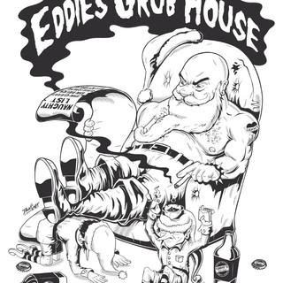 Eddies Santa Shirt Design